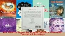 Download  101 Theatre Games for Drama Teachers Classroom Teachers  Directors EBooks Online