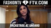 Backstage at Ungaro Spring 2016 with FashionTV | FTV.COM