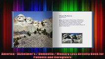 America  Alzheimers  Dementia  Memory Loss Activity Book for Patients and Caregivers
