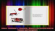 Colors  Alzheimers  Dementia  Memory Loss Activity Book for Patients and Caregivers