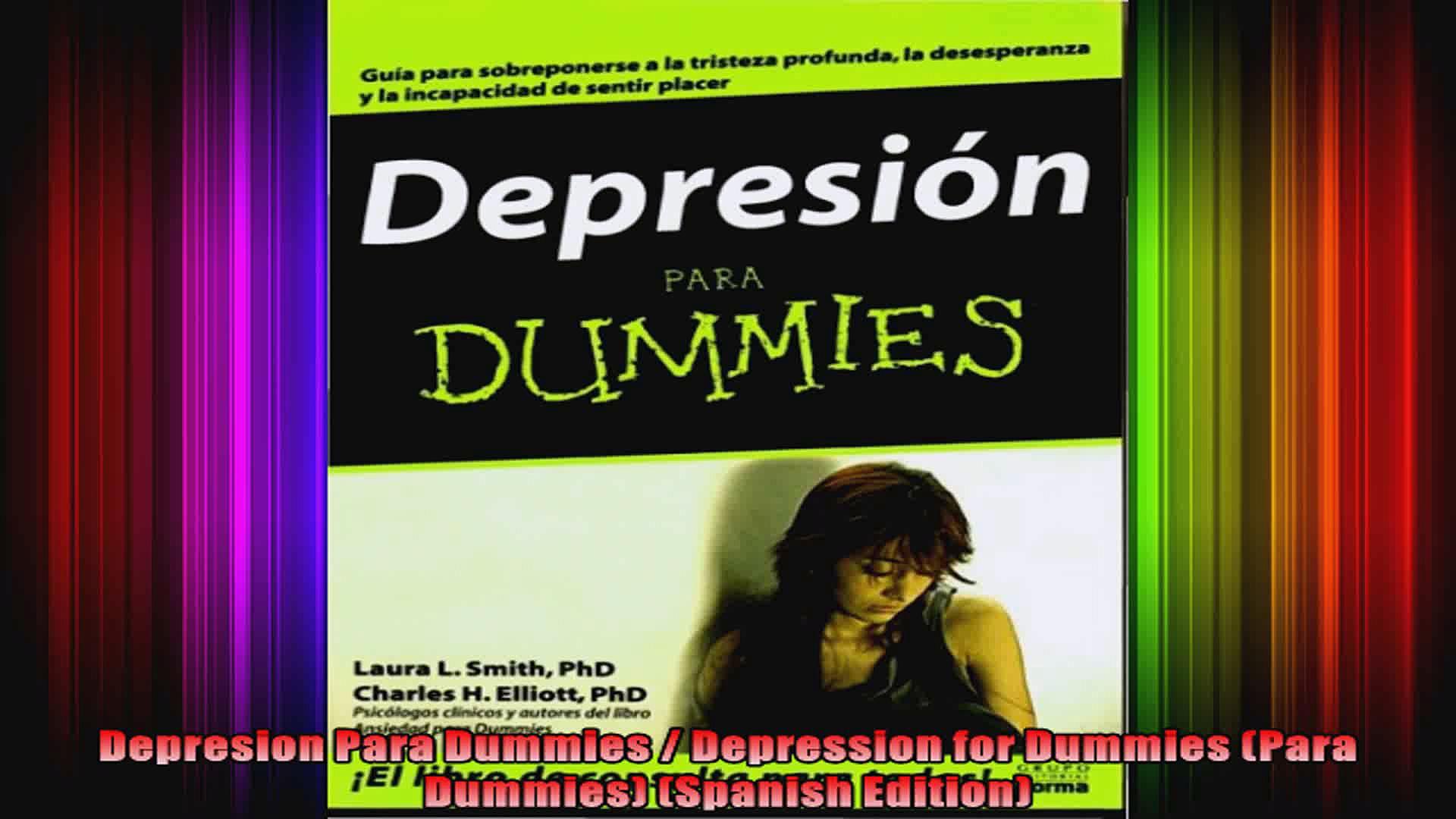 Depresion Para Dummies  Depression for Dummies Para Dummies Spanish Edition