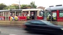 Les tramways, tiré à part après laccident, Prague 21/05/2013