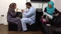 Funny prank Two muslims Girls vs Man  -- hitting on head By wooden Spoons-- Cheated prank