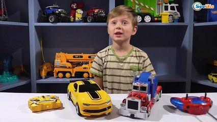 ✔ Трансформеры. Кто сильнее Оптимус Прайм или Бамблби. Видео для мальчиков - Transformers