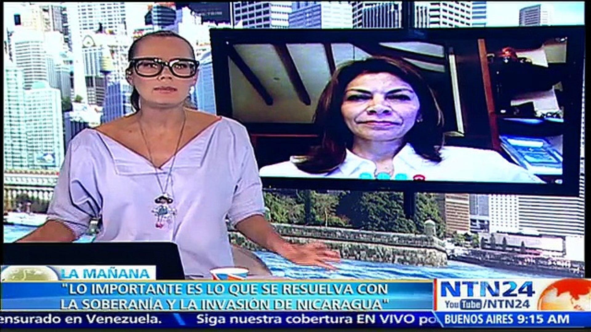 """Estoy esperanzada de que sea un triunfo sonoro para Costa Rica"": expresidenta Chinchilla sobre sent"