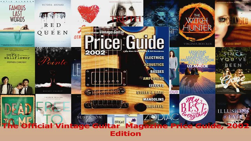PDF Download The Official Vintage Guitar Magazine Price Guide 2002 Edition Read Online   Godialy.com