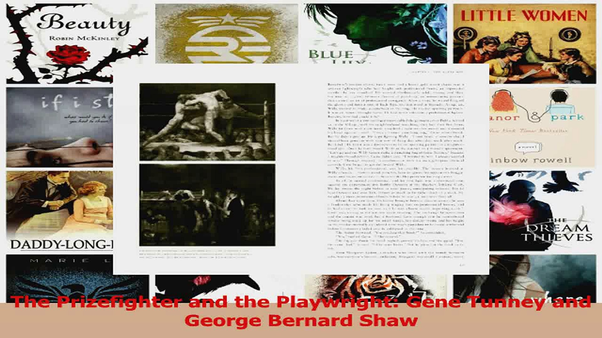 The Prizefighter and the Playwright Gene Tunney and George Bernard Shaw Download