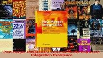 Download  Post Merger Integration Unternehmenserfolg durch Integration Excellence PDF Frei