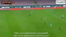 Jose Callejon Goal Napoli 3 - 0 Verona Coppa Italia 16-12-2015