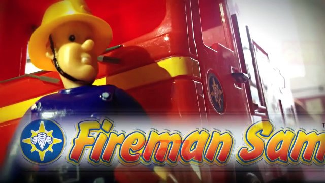 playing New Fireman Sam Episode with Toys Postman Pat Peppa Pig English Little Sunflowers Lego
