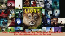PDF Download  Lion Amazing Photos  Fun Facts Book About Lions For Kids Remember Me Series PDF Full Ebook