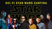 Sci-Fi Star Wars Cantina (Iconic Sci-Fi Movie Characters Crash The Star Wars Cantina Scene)
