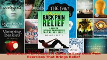 Read  Quick Back Pain Relief A Guide to Easy Back Pain Exercises That Brings Relief PDF Free