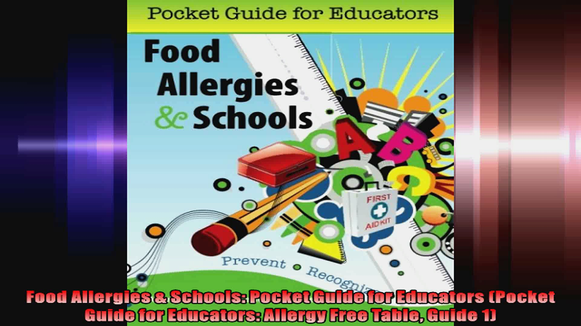 Food Allergies  Schools Pocket Guide for Educators Pocket Guide for Educators Allergy