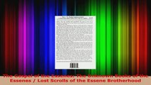 Download  The Gospel of the Essenes The Unknown Books of the Essenes  Lost Scrolls of the Essene EBooks Online