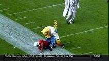 Les mascottes de Football américain ne déconnent pas quand il s'agit de jouer