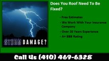 Granite, MD Hail Damage Roof Repair Call 410-469-6328