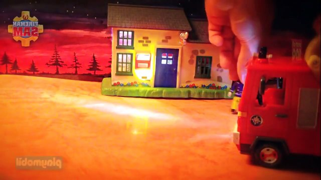playing New Fireman Sam Episode with Toys Postman Pat Peppa Pig English Little Sunflowers