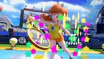 Mario Tennis: Ultra Smash - Rosalina Vs. Daisy 1 on 1 Gameplay (60fps)
