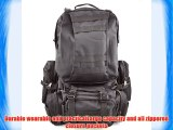 Tinxs 50L Outdoor Sport Black Rucksacks Backpack Camping Trekking Hiking Bag