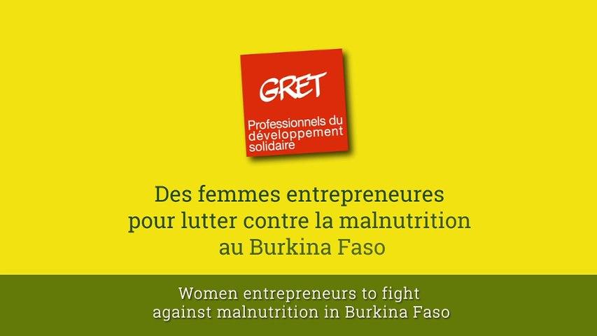 Des femmes entrepreneures pour lutter contre la malnutrition au Burkina Faso