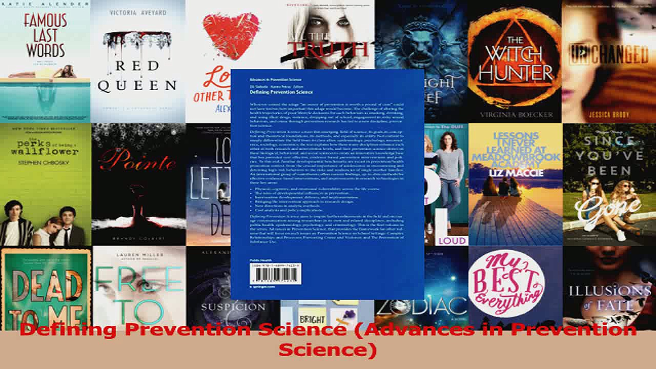 Defining Prevention Science Advances in Prevention Science PDF