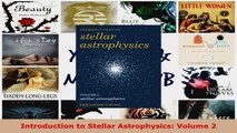Read  Introduction to Stellar Astrophysics Volume 2 EBooks Online