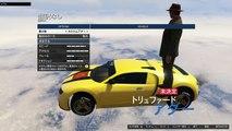 PS4 GTA5 オンライン実況 part19 鬼畜レース $ky Wallride Master