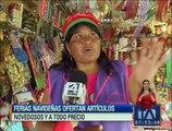 Ferias navideñas ofertan artículos novedosos y a todo precio