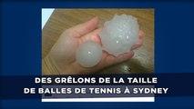 Des grêlons de la taille de balles de tennis tombent sur Sydney
