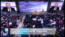 Russian President Vladimir Putin Pokes US in Marathon End-of-Year News Conference