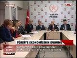 Vatan Partisi Lideri Doğu Perinçek, Ekonomik Çözüm Programını Açıklıyor