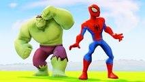 The Amazing Spider Man vs HULK Spiderman saves Frozen Elsa the Snow Queen Children Video