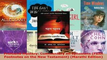 Read  Profound Mystery Commentary on Ephesians Faith Footnotes on the New Testament Marathi EBooks Online