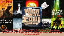 Read  What Was Paul Thinking Introducing the New Perspective on Paul and His Thoughts on Women Ebook Free