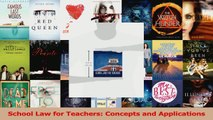PDF Download  School Law for Teachers Concepts and Applications PDF Online