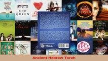 PDF Download  Ancient Hebrew Torah Read Full Ebook