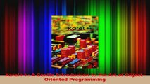 Read  Karel A Gentle Introduction to the Art of ObjectOriented Programming Ebook Free