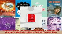 Read  Luthers Works Lectures on Galatians Chapters 14 Luthers Works Luthers Works PDF Free