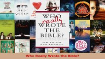 Download  Who Really Wrote the Bible PDF Free