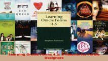 PDF Learning Oracle Forms 4 5: a Tutorial for Forms Designers EBook