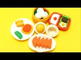 Kawaii Food Eraser Set in Bento Box - Asian Foods Edition