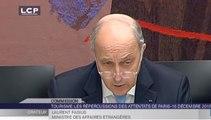 Travaux de l'Assemblée : Audition de Laurent Fabius sur le tourisme et les répercussions des attentats de Paris
