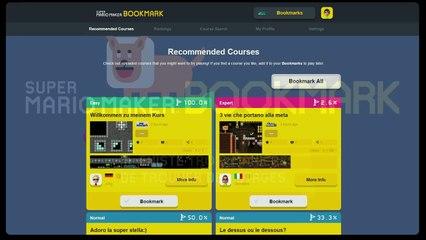 Super Mario Maker : Portail web Bookmark