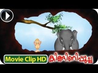 Baby Elephant & Monkey - Kinginipoocha - Malayalam Animation [HD]