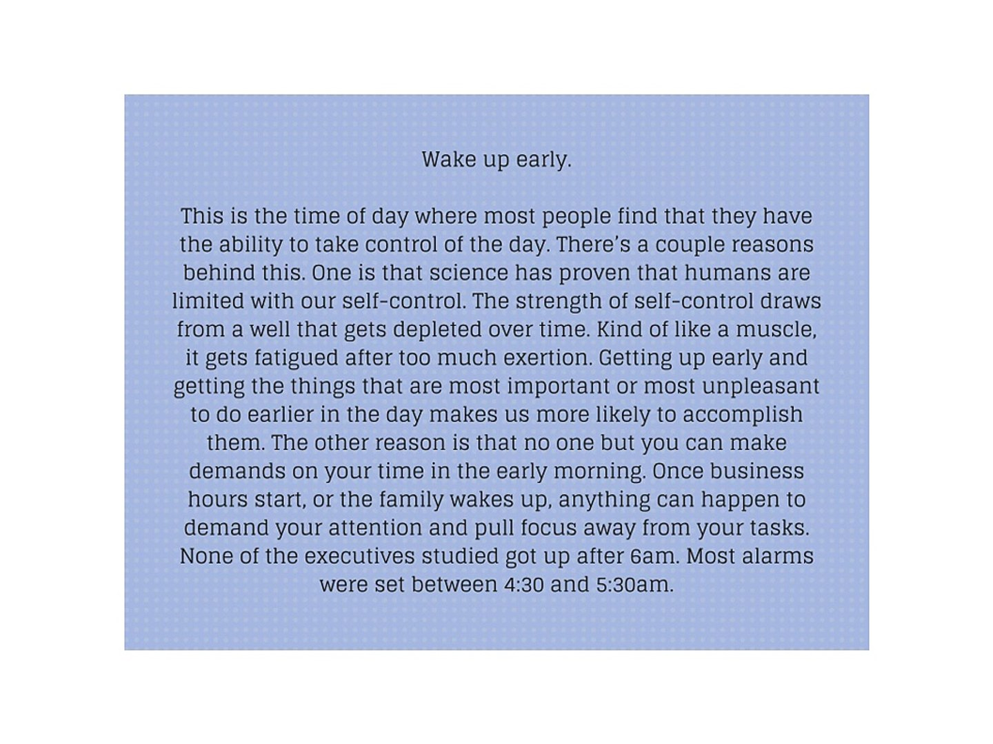 Morning Routines and Daily Habits of Successful Executives and CEOs