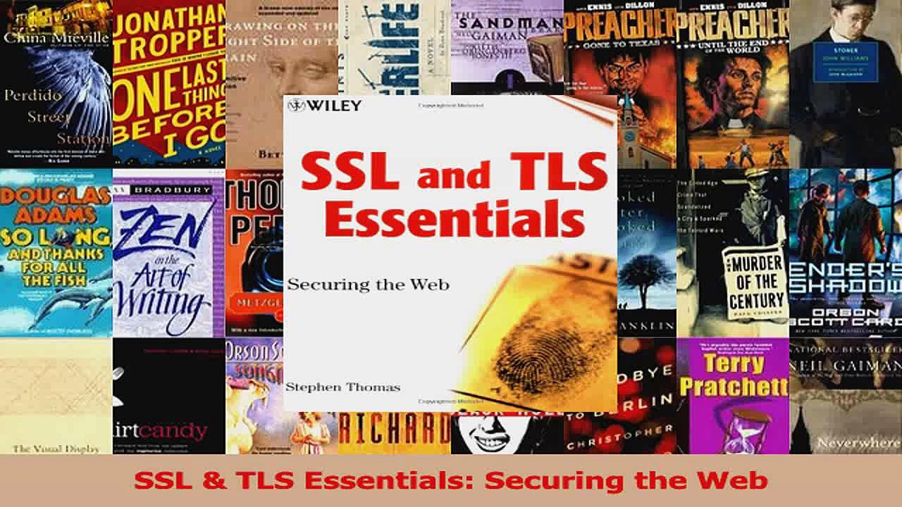 SSL  TLS Essentials Securing the Web Download