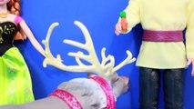 Frozen Anna & Kristoff Barbie Doll Disney Frozen Sven Eats PLAY-DOH carrot AllToyCollector