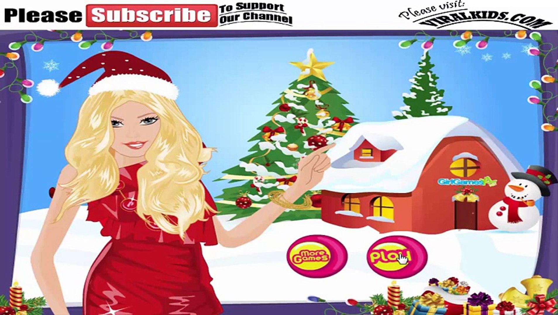 Barbie Games - Barbie Christmas Party Preparation - Play Free Barbie Girls