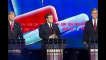 Donald Trump face Cnn debate Las vegas